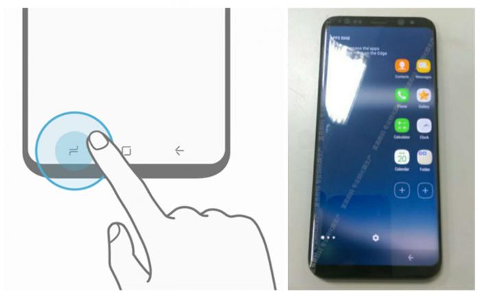 Galaxy S8:n näyttö saa alaosaansa toimintopainikkeet.