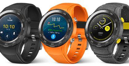 Huawei Watch 2 eri väreinä.