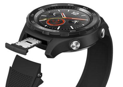 Huawei Watch 2 sisältää perinteisen nano-SIM-korttipaikan.