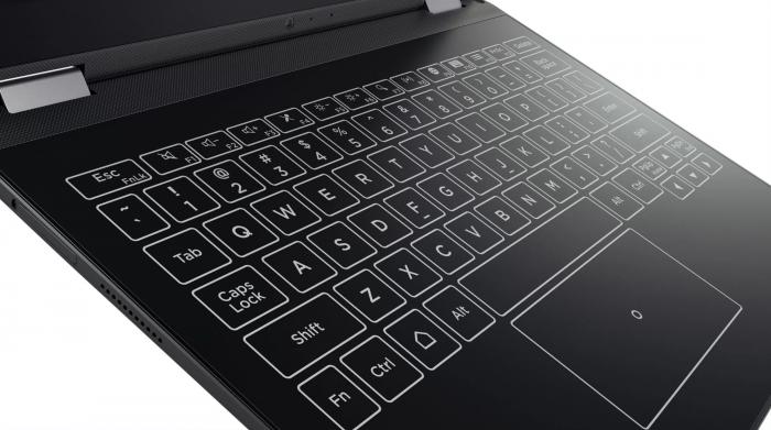 Halo Keyboard on myös Lenovo Yoga A12:n erikoisuus.