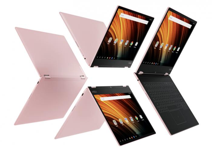 Lenovo Yoga A12:n toinen Rose Gold -värivaihtoehto.