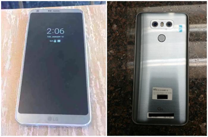 LG G6 9to5Googlen aiemmin julkaisemissa kuvissa.