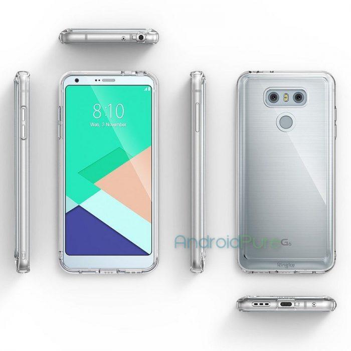 LG G6 kuorten sisällä eri kuvakulmista.