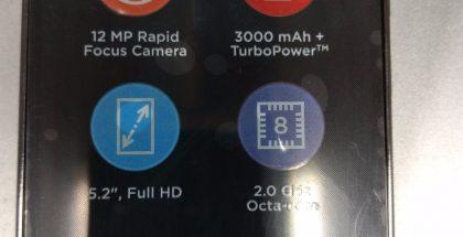 Väitetty Moto G5 Plus vuotokuvassa.