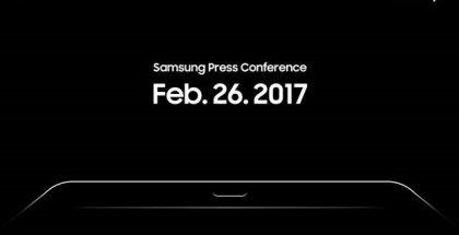 Samsungin kutsukuva sen Barcelonan tilaisuuteen.