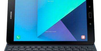 Samsung Galaxy Tab S3 näppäimistön kanssa Evan Blassin julkaisemassa kuvassa.