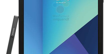 Samsung Galaxy Tab S3 S Pen -kynän kanssa WinFuture.den aiemmin julkaisemassa lehdistökuvassa.