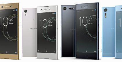 Sonyn uusia Xperia-älypuhelimia Evan Blassin julkaisemassa lehdistökuvassa.