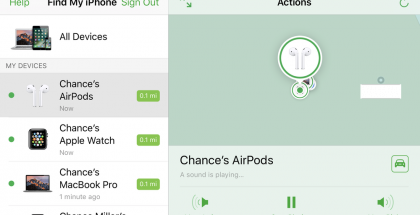 Apple Find my iPhone AirPods