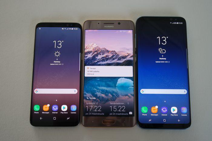 Galaxy S8 ja Huawei Mate 9 Pro