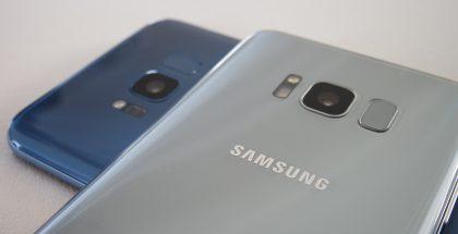 Lopulta julkistetuissa Galaxy S8 -puhelimissa sormenjälkitunnistin on takana kameran vieressä.