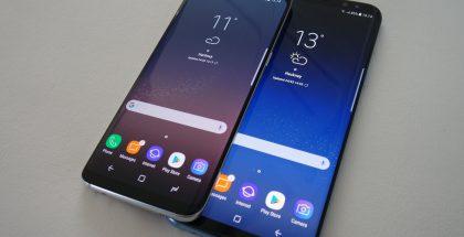 Nykyiset Samsung Galaxy S8 ja Galaxy S8+.