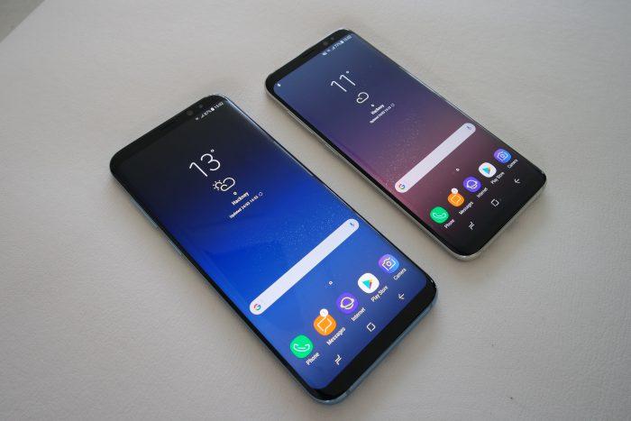Samsung Galaxy S8+ ja Galaxy S8.