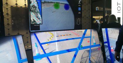 Yllä näytöllä havainnollistetaan, kuinka verkko suuntaa signaalin juuri sitä käyttävään liikkuvaan autoon.