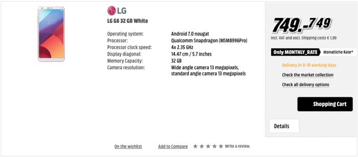 LG G6 Saksassa