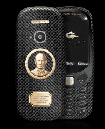 Caviarin Supremo Putin -versio Nokia 3310:stä.