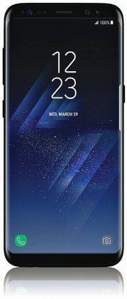 Samsung Galaxy S8 Evan Blassin aiemmin vuotamassa kuvassa.