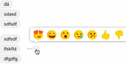 Reaktioita testataan nyt myös Facebook Messengerissä.