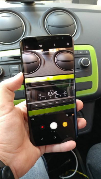 Galaxy S8+:n kamera AndroidMX:n kuvassa.