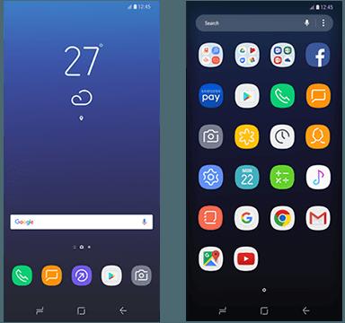 Galaxy S8 kotivalikko