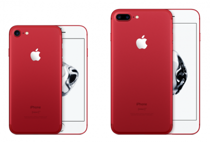 Punaiset iPhone 7 ja iPhone 7 Plus PRODUCT(RED) Special Edition.