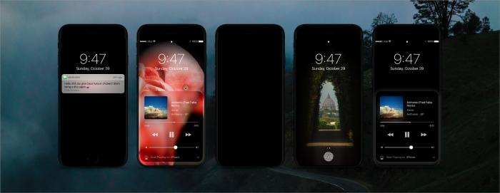 Tummateemainen iPhone-konsepti.