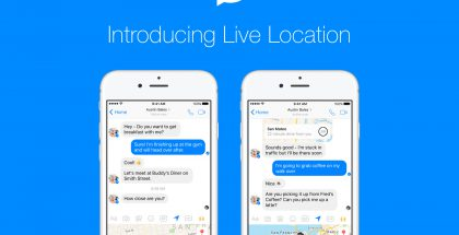 Facebook Messenger sijainti live location
