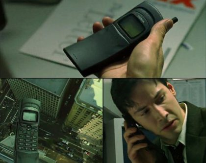Nokia 8110 Matrix-elokuvassa.
