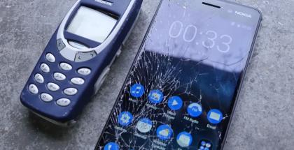 Alkuperäinen Nokia 3310 vs. Nokia 6.