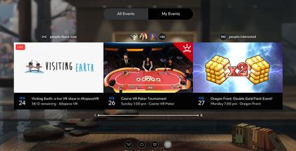 Oculus Events kokoaa yhteen virtuaalitodellisuuden tapahtumat.