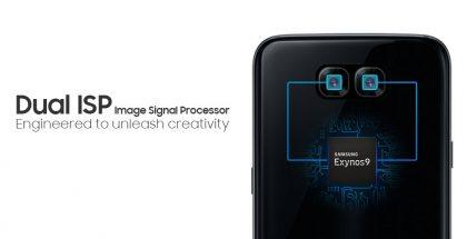 Samsung markkinoi Exynos 8895 -järjestelmäpiiriään sen kahdella kuvankäsittelysuorittimella, jotka mahdollistavat kaksoiskameran.
