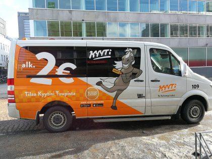 Tuup on tullut tunnetuksi alkaen 2 euron Kyyti-taksipalvelustaan.
