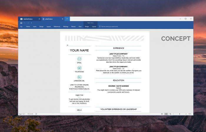MSPowerUsewrin konseptikuva välilehdistä Windows-ikkunassa.
