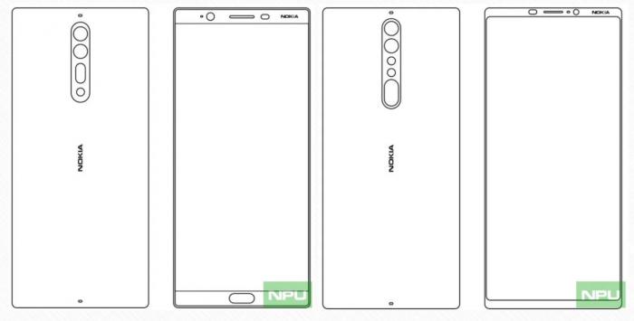 Väitetyt Nokia 8 ja Nokia 9, Nokiapoweruserin julkaisemassa kuvassa.