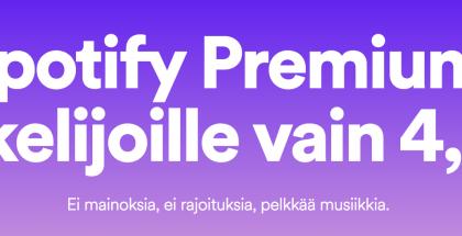 Spotify Premium opiskelijoille.