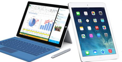 Surface Pro 3 vs. iPad Air.