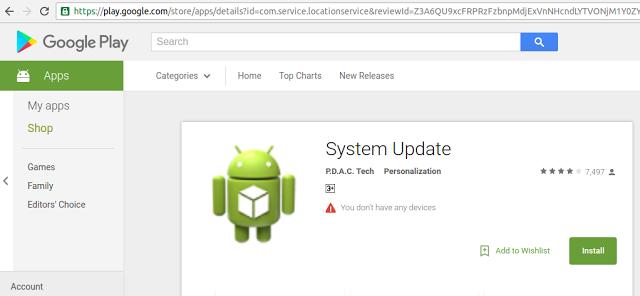 System Update haittasovellus