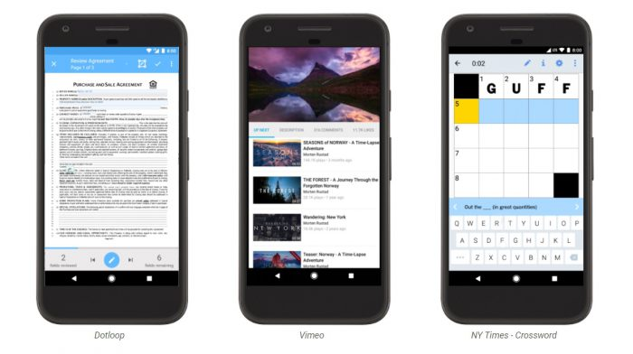 Android Instant Apps -esimerkkejä.
