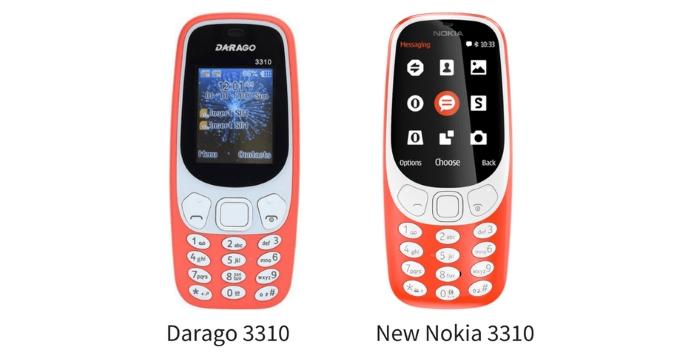 Darago 3310 vs. uusi Nokia 3310.