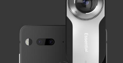 360-lisäkamera kiinnittyy magneetein Essential-puhelimeen.