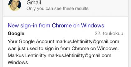 Henkilökohtainen-osio löytyy Google hausta välilehdiltä vasemmalta.