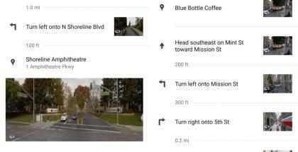 Street View -kuvat Google Mapsin reittiohjeissa.