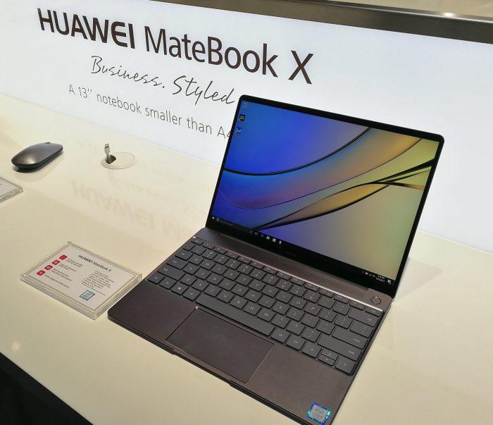 MateBook X on Huawein MateBook-uutuuksien keihäänkärki.