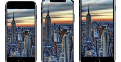 Uuden iPhone X:n tietokonemallinnus iPhone 7:n ja iPhone 7 Plussan välissä iDrop Newsin aiemmin julkaisemassa kuvassa.