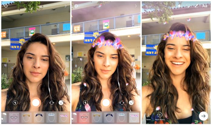 Instagram tuo Snapchatista tutut kasvofiltterit.