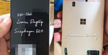 Microsoftin julkistamatta jäänyt puhelinmalli, mallikoodi RM-1162.