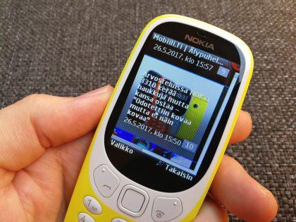Nettisivujen lataaminen Nokia 3310:n hitaalla 2G-yhteydellä on piinallista puuhaa.