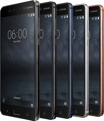 Nokia 6:n eri värivaihtoehdot täällä.