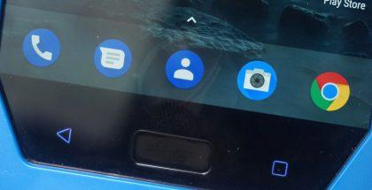 Nokia 9:n sormenjälkitunnistin löytyy edestä.