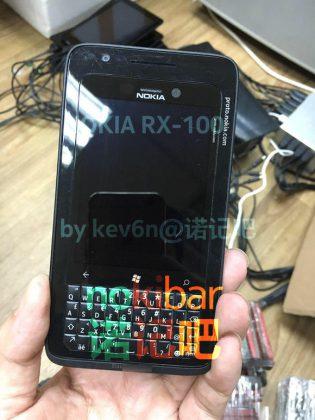 Nokia RX-100 olisi ollut QWERTY-näppäimistöllä varustettu Windows-puhelin.
